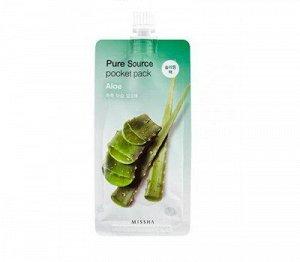 Увлажняющая ночная маска с экстрактом алое MISSHA Pure Source Pocket Pack (Aloe)