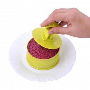 """Кулинарная форма """"Круг"""" с крышкой-прессом"""