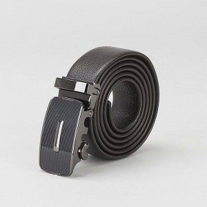 Ремень мужской, гладкий, пряжка - автомат тёмный металл, ширина - 3 см, цвет кофе 2992843