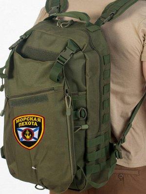 Надежный спутник Морпехов – тактический рюкзак хаки-олива. Армейский стандарт выдерживает условия использования «extreme» и «hard+» 14(13)