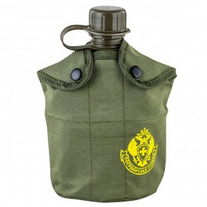 Армейская фляга для военных Пограничной службы - утеплённый подсумок цвета хаки-олива, кружка-котелок №6