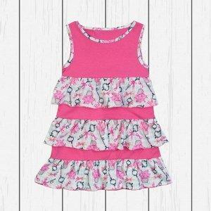 Платье для девочки с оборками арт.ПЛ-718