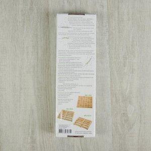 Массажёр-лента деревянный, шариковый, 10 звеньев