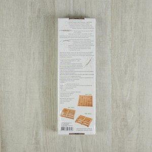 Массажёр-лента деревянный, роликовый, 10 звеньев