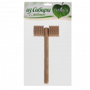 Массажёр «Каток», деревянный, зубчатый