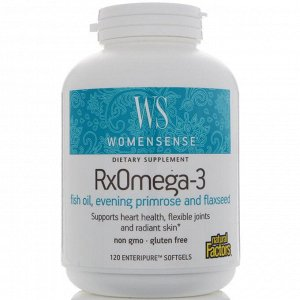 Natural Factors, WomenSense, RxOmega-3, 120мягких таблеток Enteripure