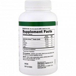 Kyolic, Формула 102, Экстракт выдержанного чеснока, для удаления дрожжевого грибка и улучшения пищеварения, 200 растительных капсул