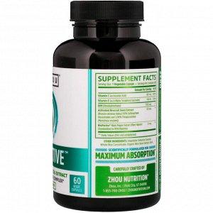 Zhou Nutrition, DIM Active, комплекс для гормонального баланса, 60 вегетарианских капсул