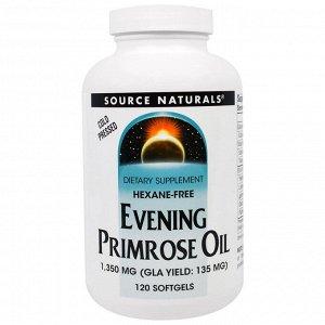 Source Naturals, Масло энотеры, 1350 мг, 120 мягких желатиновых капсул