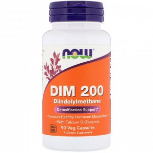 Now Foods, DIM 200, 90 растительных капсул