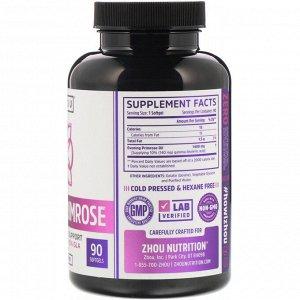 Zhou Nutrition, Evening Primrose, Female Hormone Support, 1,400 mg, 90 Softgels