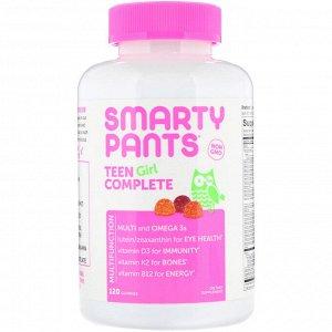 SmartyPants, комплекс для подростков-девушек, лимон и лайм, ягоды, кислое яблоко, 120 жевательных таблеток