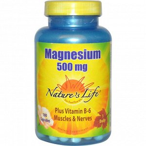 Nature&#x27 - s Life, Magnesium (Магний), 500 мг, 100 капсул
