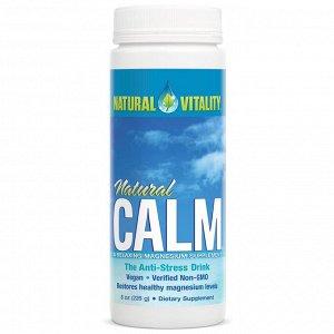 Natural Vitality, Natural Calm, напиток против стресса, оригинальный (без вкусовых добавок), 226 г