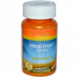 Thompson, Идеальное железо, 50 мг, 60 таблеток
