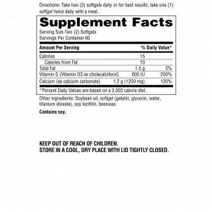 Schiff, Super Calcium, 1200 мг, 120 мягких желатиновых капсул