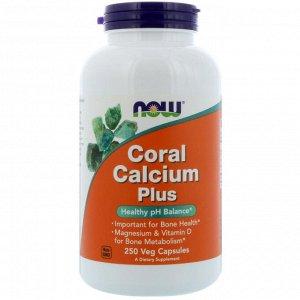 Now Foods, Coral Calcium Plus, 250 растительных капсул