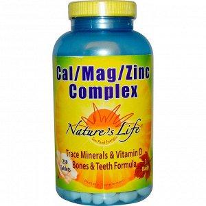 Nature&#x27 - s Life, Комплекс Cal / Mag / Zinc, 250 таблеток