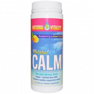 Natural Vitality, Natural Calm, органическая, со вкусом малины и лимона, 226 г