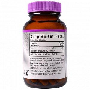 Bluebonnet Nutrition, Хелатный цинк, 90 растительных капсул