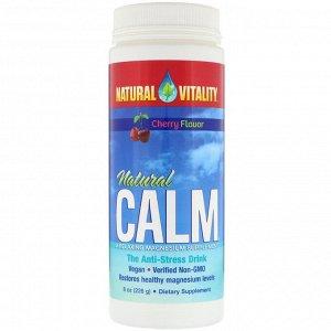 Natural Vitality, Natural Calm, антистрессовое питье, вкус вишни, 8 унц. (226 г)