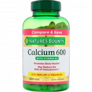 Nature&#x27 - s Bounty, Calcium 600 с витамином D3, 250 таблеток
