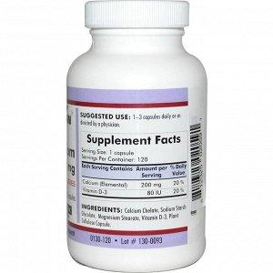 Kirkman Labs, Кальций Био-Макс, 200 мг, 120 капсул