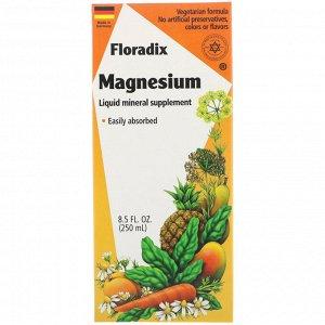Flora, Магний Floradix, жидкая минеральная добавка, 250 мл
