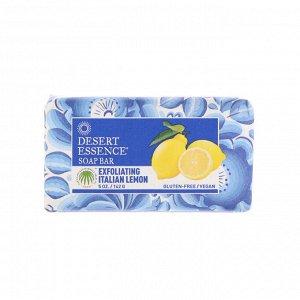 Desert Essence, Мыло с итальянским лимоном, Отшелушивающее действие, 5 унций (142 г)
