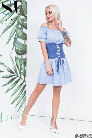 Платье с корсетом 48213