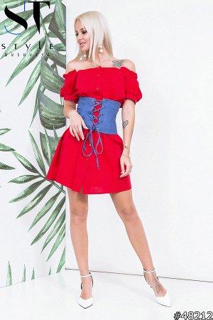 Платье с корсетом 48212