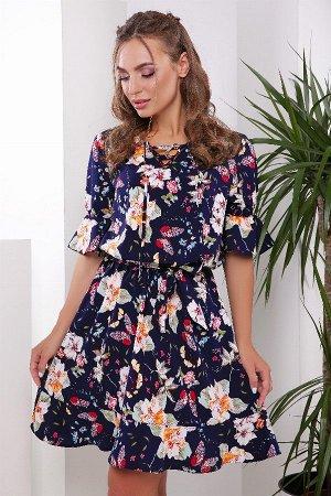 Платье 1826 синий