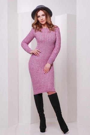 Вязаное платье 135 сирень