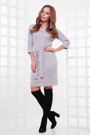 Платье 1755 серый меланж
