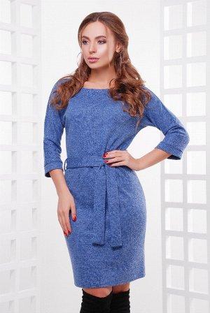 Платье 1755 синий меланж