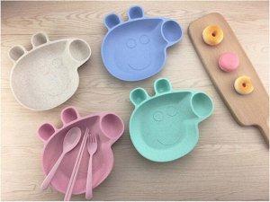 Детский набор посуды из бамбука