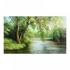 "Картина на холсте ""Склонившись над рекой"" 60*100 см"