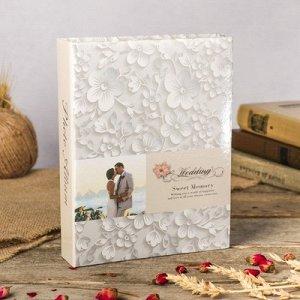 Фотоальбом на 200 фото 10х15 см Свадьба. Белые цветы23х18х5,5 см