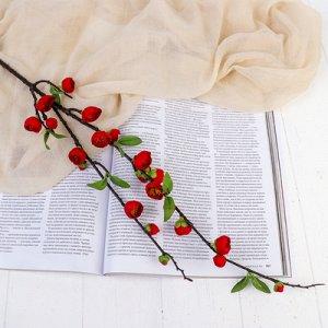 """Цветы искусственные """"Райская яблоня"""" 2*90 см, красный"""