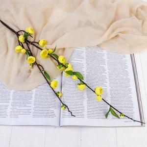 """Цветы искусственные """"Райская яблоня"""" 2*90 см, жёлтый"""