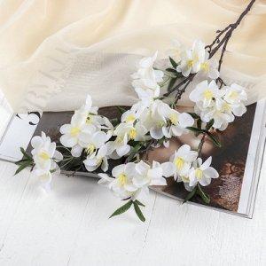 """Цветы искусственные """"Молочай миля"""" 6*85 см, белый"""