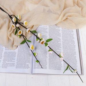 """Цветы искусственные """"Райская яблоня"""" 2*90 см, белый"""