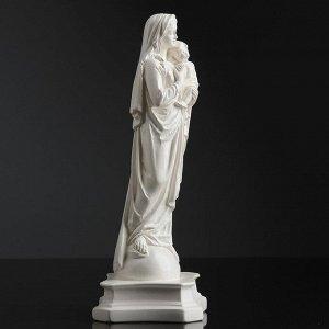 "Фигура ""Дева Мария с младенцем"" белая 24см"