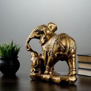 """Фигура """"Слон со слонёнком"""" 15х27х27см"""