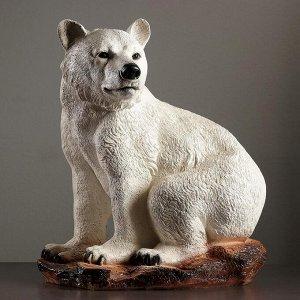 "Фигура ""Медведь сидя большой"" 40х50х56см белый"