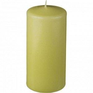 Свеча высота=15 см.диаметр=7 см.фисташковая (кор=4шт.)