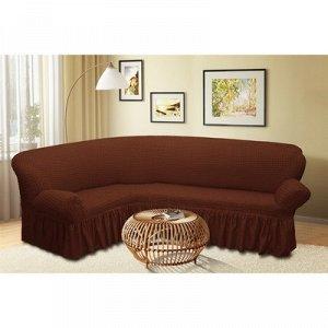Чехол для мягкой мебели угловой диван 3-х местный 6057, трикотаж, 100% п/э