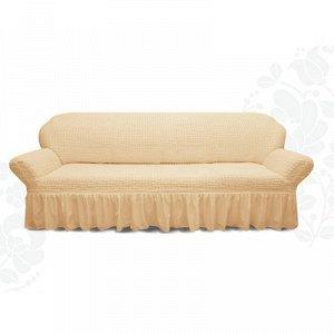 Чехол для мягкой мебели диван 3-х местный 6084, трикотаж, 100% п/э