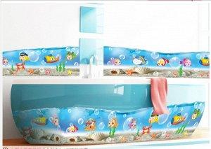 Наклейка для ванной комнаты Рыбки