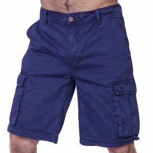 Синие мужские шорты бермуды CASTRO  - Надежные функциональные карманы, натуральный дышащий материал и цена в три раза выгоднее!!! №600